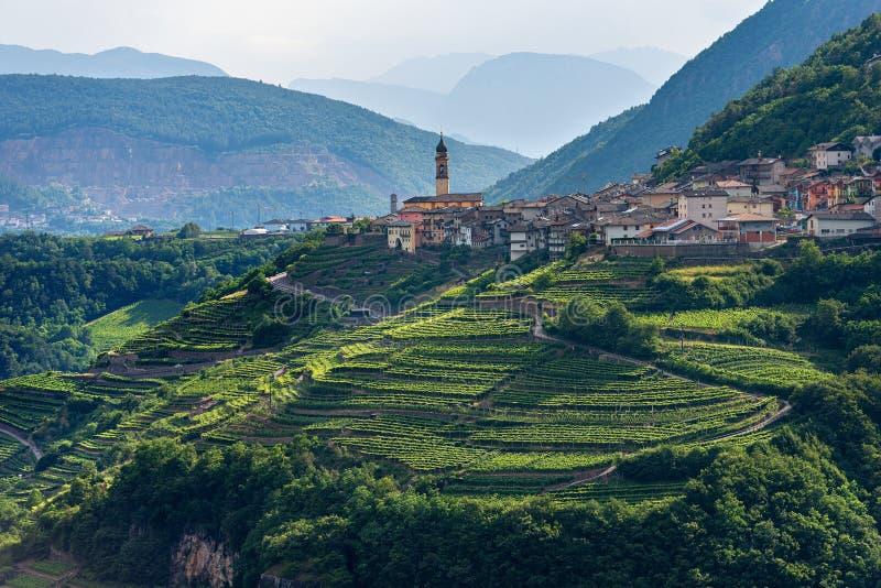 Kleines Dorf von Faver - Trentino Alto Adige Italy stockbild