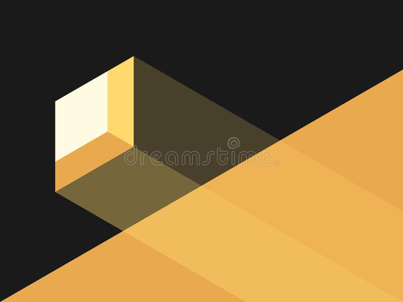Kleines Fenster, helles Licht stock abbildung