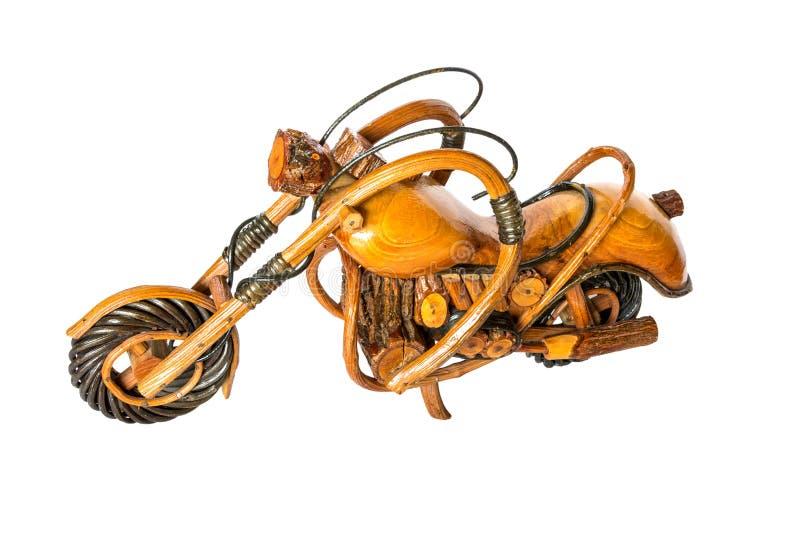 Kleines hölzernes Zerhackermotorrad lizenzfreies stockbild
