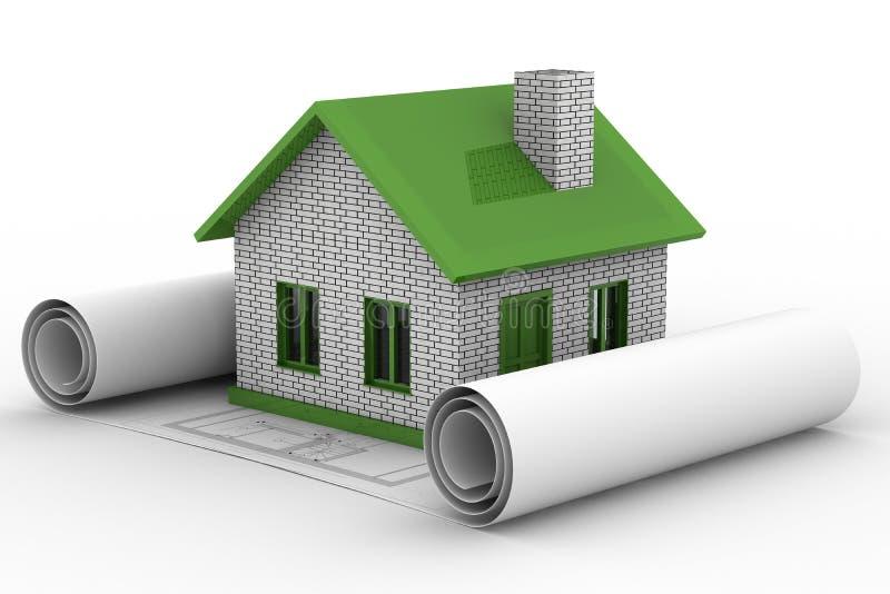 Kleines Haus auf weißem Hintergrund vektor abbildung