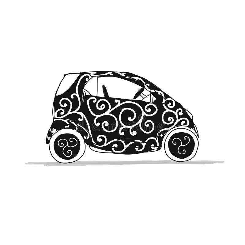 Charmant Skizzieren Auto Zeitgenössisch - Elektrische ...
