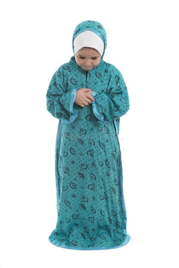 Kleines junges moslemisches betendes Mädchen stockbilder