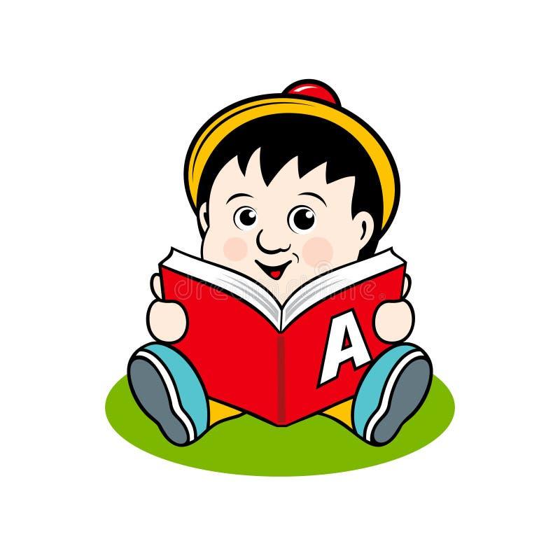 Kleines Kind mit einem Buch vektor abbildung
