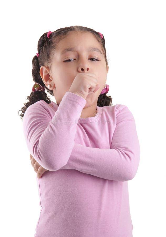 Kleines krankes Mädchen lizenzfreie stockbilder