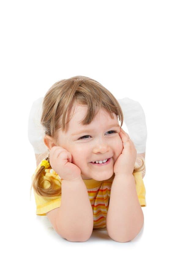 Kleines lächelndes Mädchennahaufnahmeportrait lizenzfreies stockbild