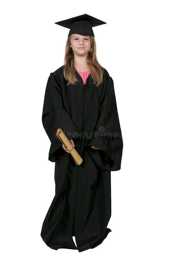 Kleines Mädchen-Absolvent stockfotografie