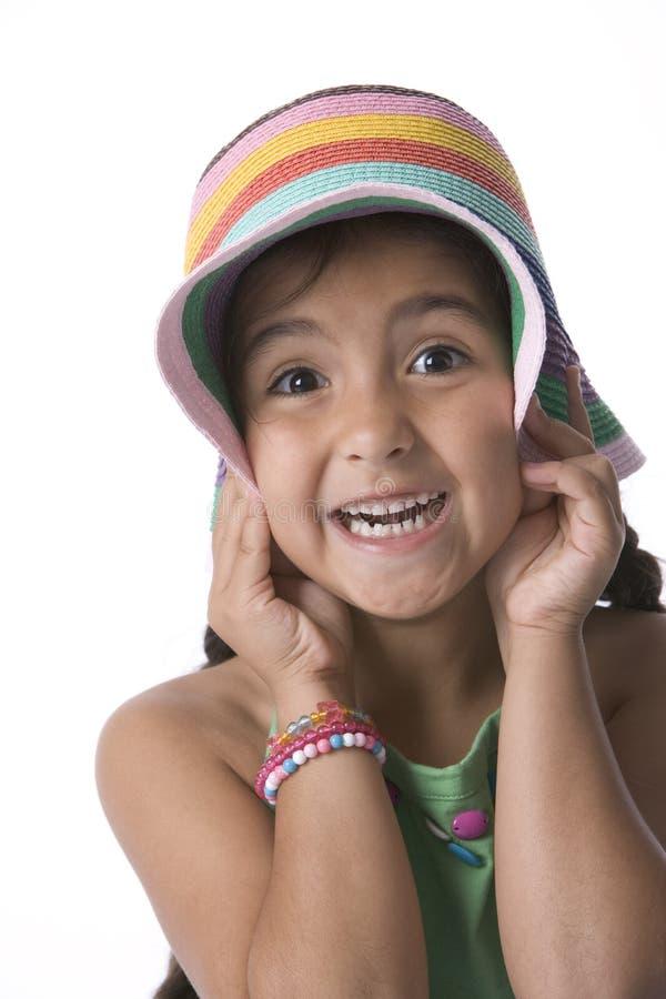 Kleines Mädchen bildet Spaß stockbild