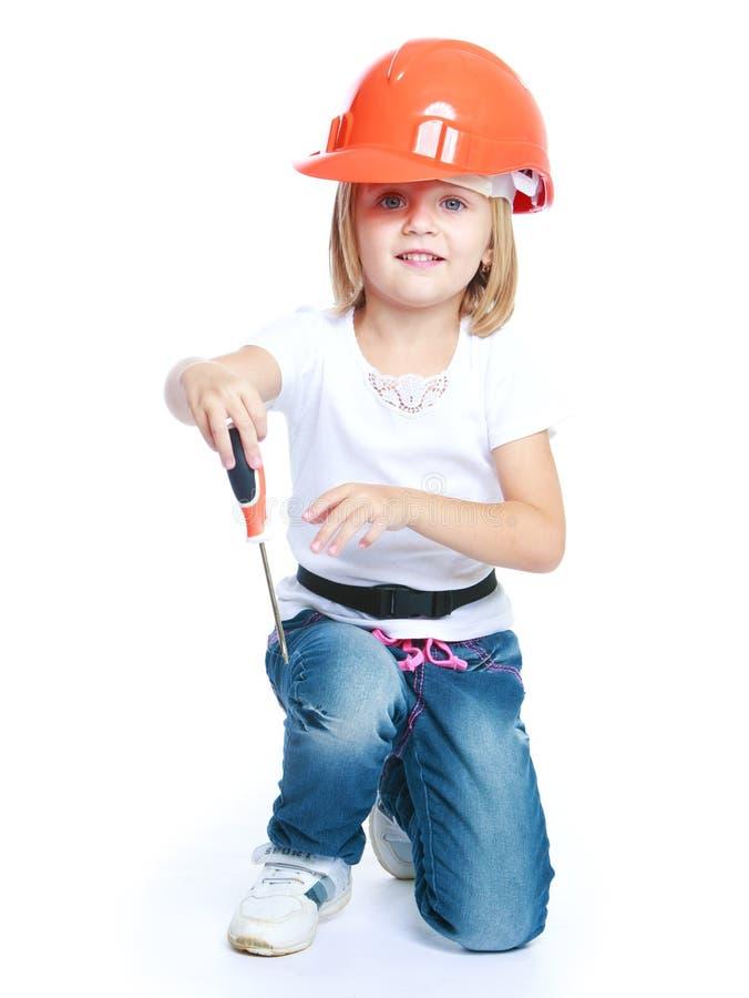 Kleines Mädchen in der Blue Jeans lizenzfreies stockbild