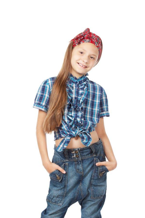 Kleines Mädchen der Mode stockbild