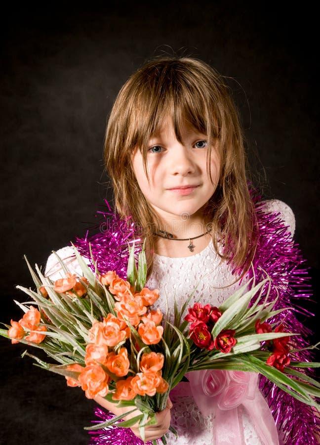 Kleines Mädchen an der Partei stockfotografie