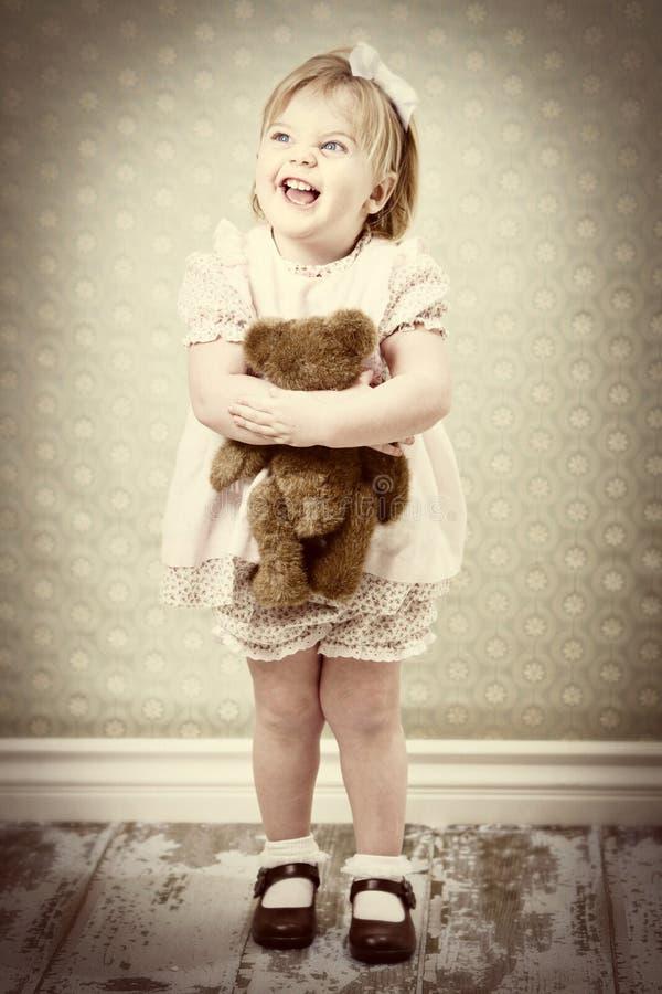 Kleines Mädchen der Weinlese stockbilder