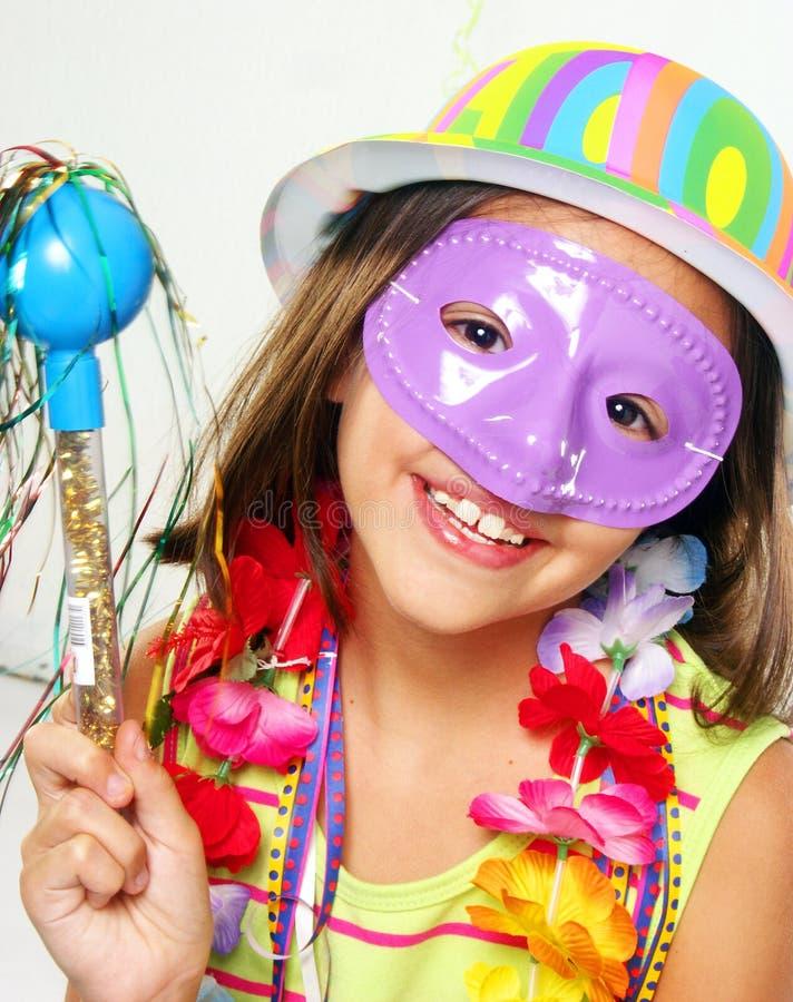 Kleines Mädchen des Karnevals stockbild