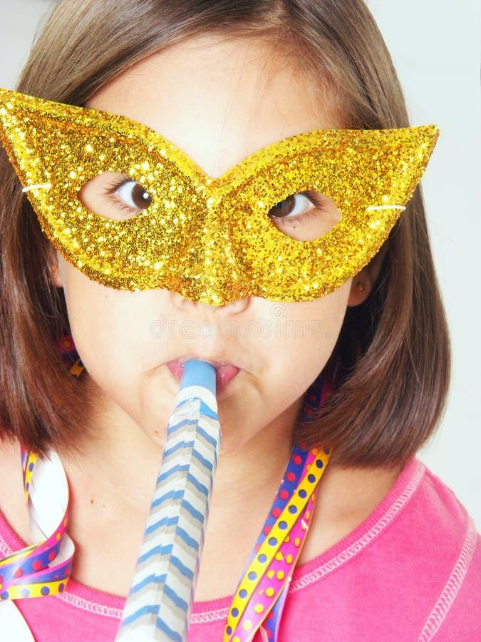Kleines Mädchen des Karnevals lizenzfreie stockfotografie