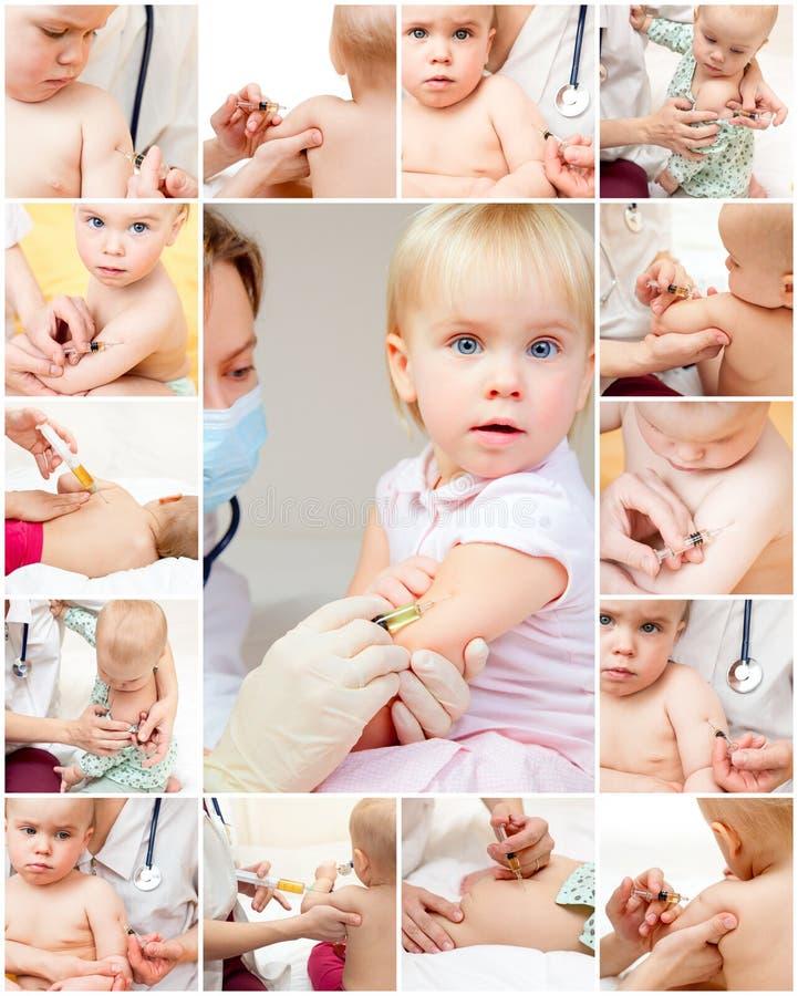 Kleines Mädchen erhält eine Einspritzung lizenzfreies stockbild