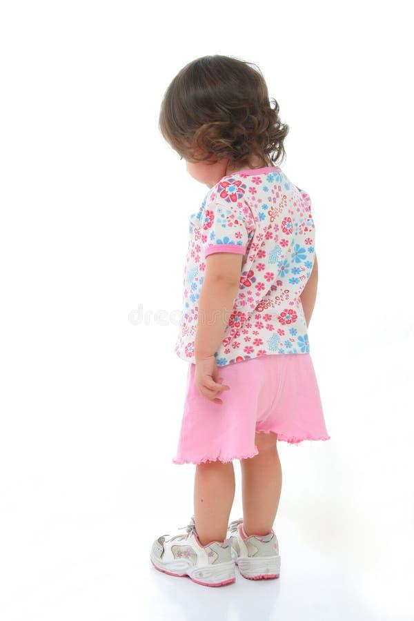 Kleines Mädchen gesehen von hinten stockfotos