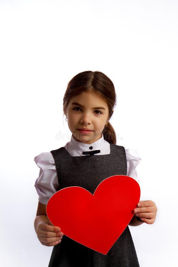 Kleines Mädchen-großes Herz lizenzfreie stockfotografie