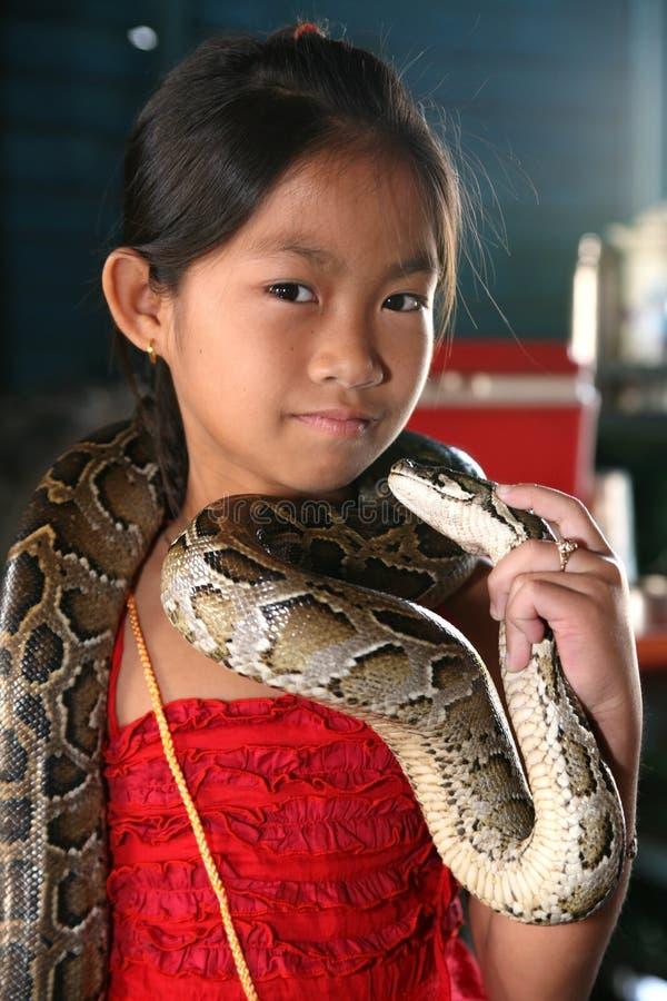 Kleines Mädchen, illegaler Immigrant stockbild