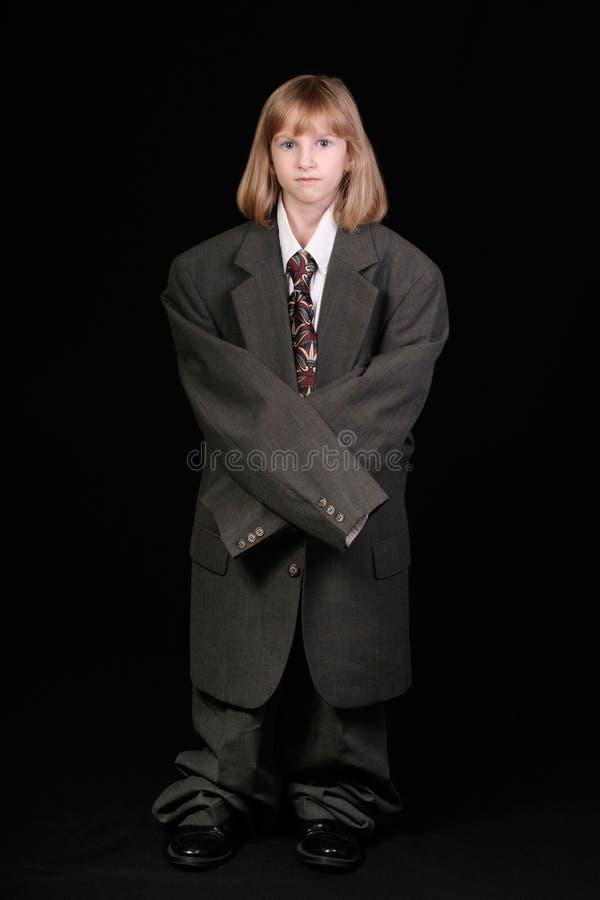 Kleines Mädchen im Anzug stockfotos