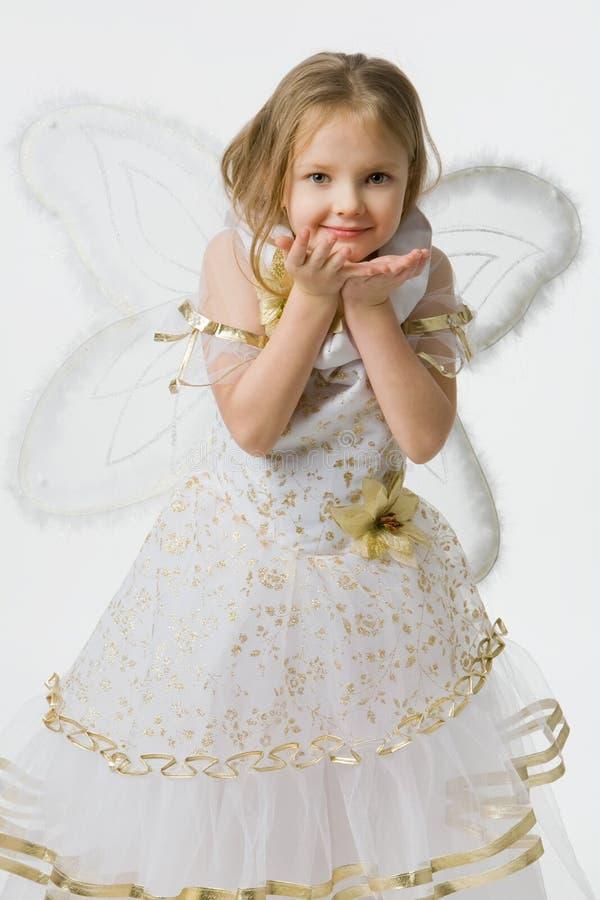 Kleines Mädchen im schönen Kleid lizenzfreie stockfotografie