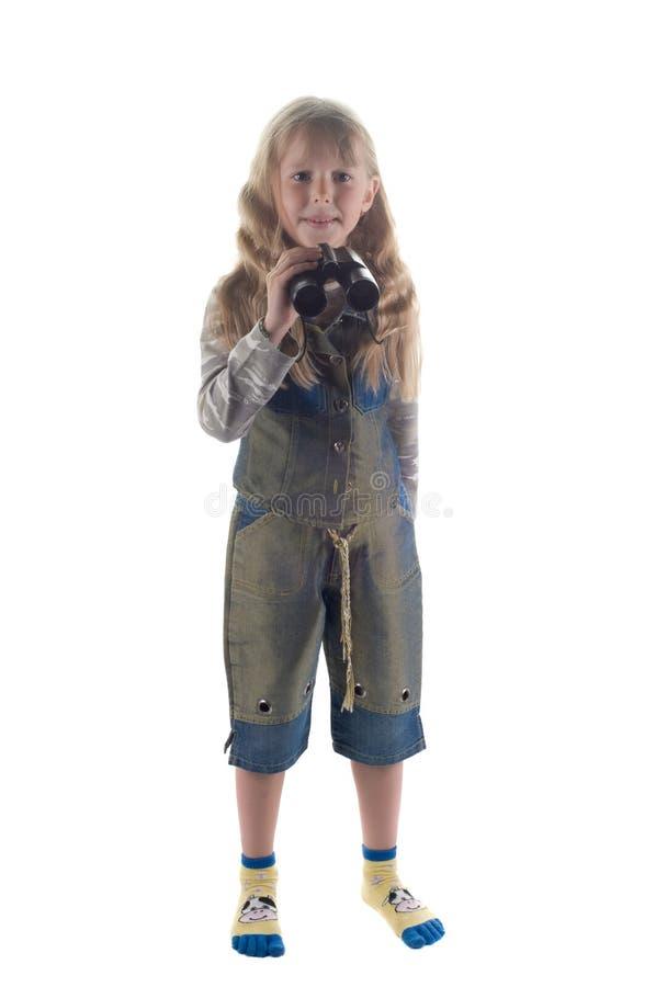 Kleines Mädchen im Studio stockfoto
