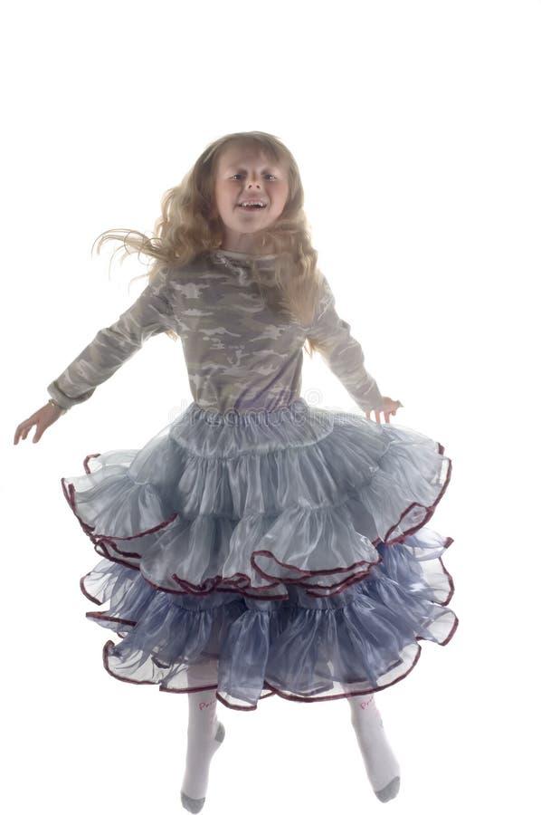 Kleines Mädchen im Studio stockfotografie