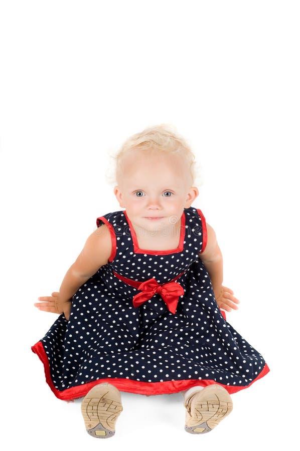 Kleines Mädchen im Studio stockbild