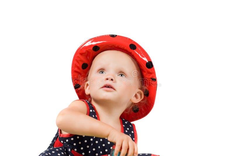 Kleines Mädchen im Studio lizenzfreies stockbild