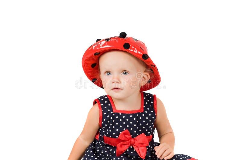 Kleines Mädchen im Studio lizenzfreie stockfotografie