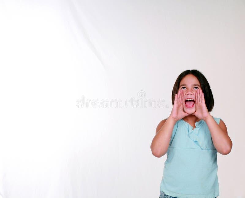 Kleines Mädchen-Kreischen stockfotografie