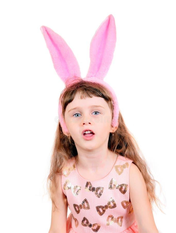 Kleines Mädchen mit den Häschenohren lizenzfreie stockfotografie
