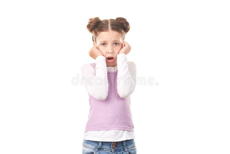 Kleines Mädchen mit Haarbrötchen stockfotografie