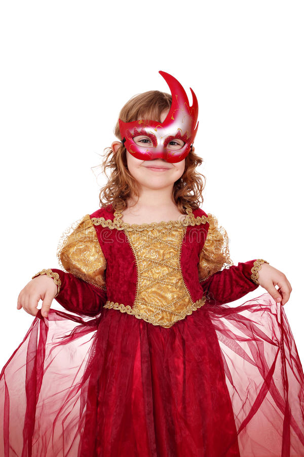 Kleines Mädchen mit Schablone lizenzfreies stockbild