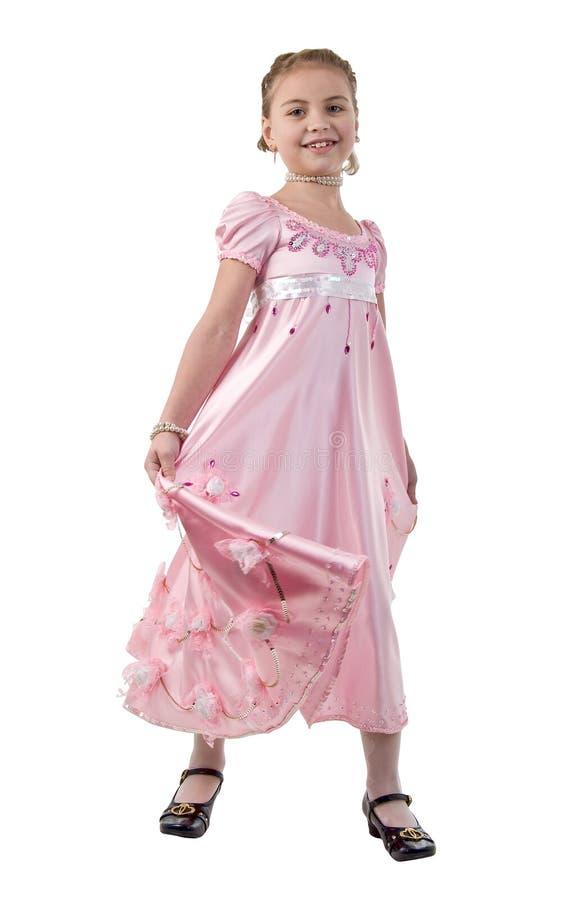 Kleines Mädchen sieht wie eine kleine Prinzessin aus lizenzfreie stockfotos