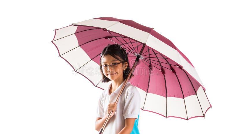 Kleines Mädchen und Regenschirm I stockfoto