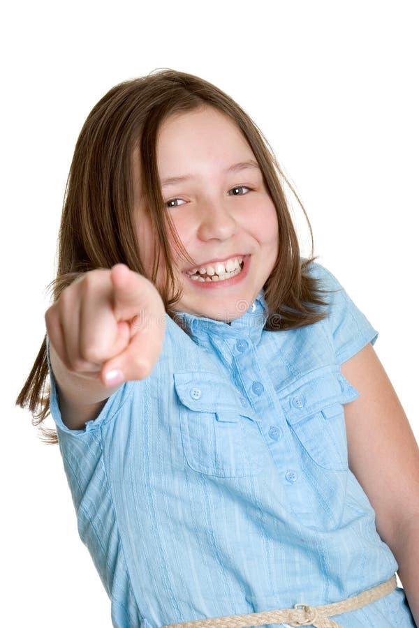 Kleines Mädchen-Zeigen lizenzfreie stockfotos