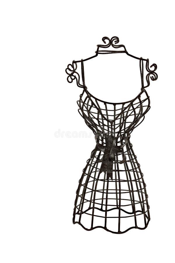 Kleines metallisches Kleid-Formular stockfotos