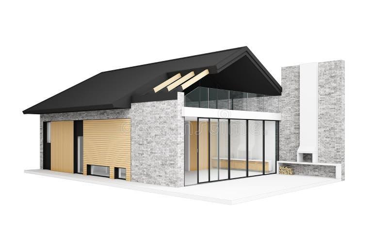 Download Kleines Modernes Haus Stock Abbildung. Illustration Von Häuschen    27420035