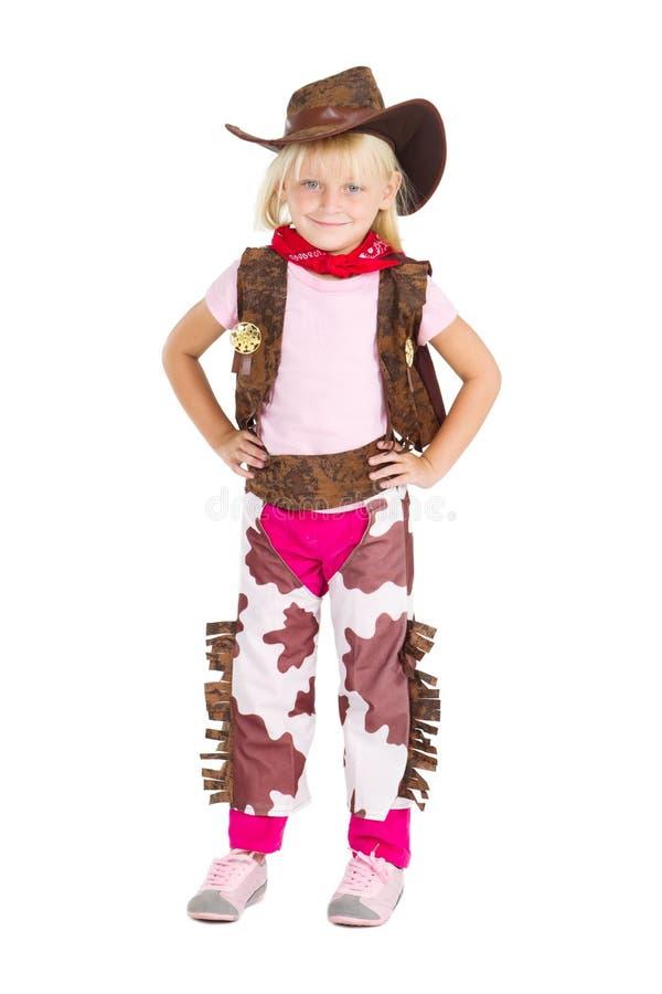 Kleines nettes Cowgirl stockfotografie