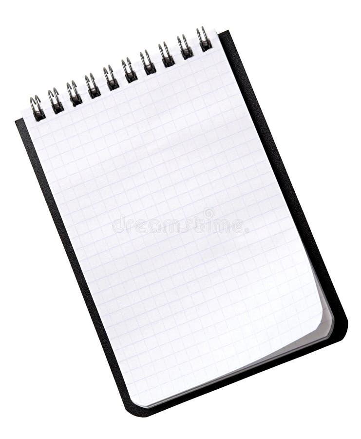 Kleines Notizbuch auf einem Weiß lizenzfreie stockfotos