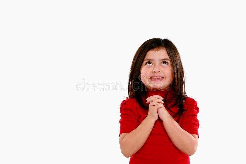 Kleines plädierendes Mädchen stockbild