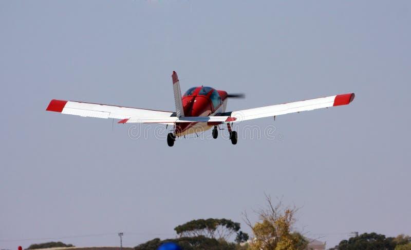 Kleines rotes Flugzeug stockbilder