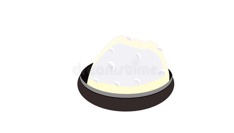 Kleines saltmint mit Salz auf weißem Hintergrund stock abbildung