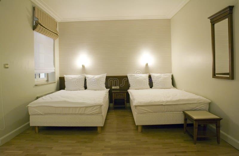 Kleines Schlafzimmer lizenzfreie stockfotos