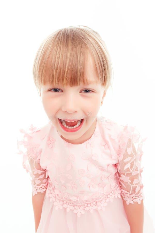Kleines schreiendes Mädchen stockfotos