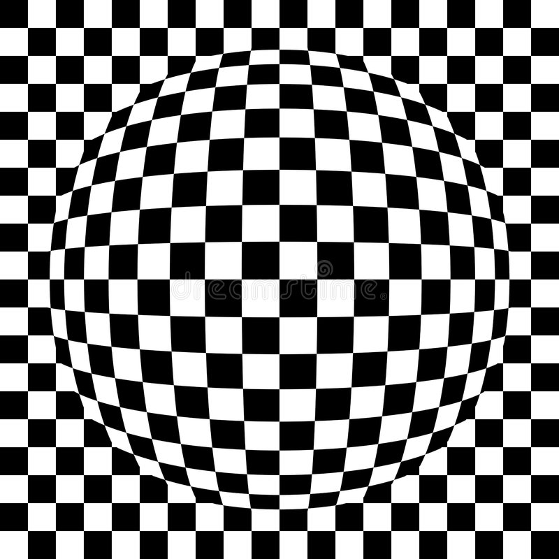 Spherized Quadrierte Muster Stockfotografie