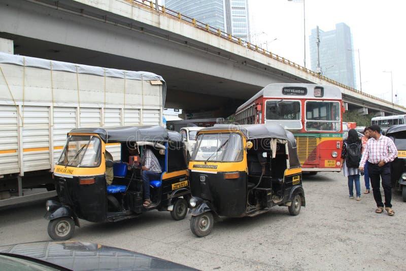 Kleines Taxi in Indien lizenzfreies stockfoto
