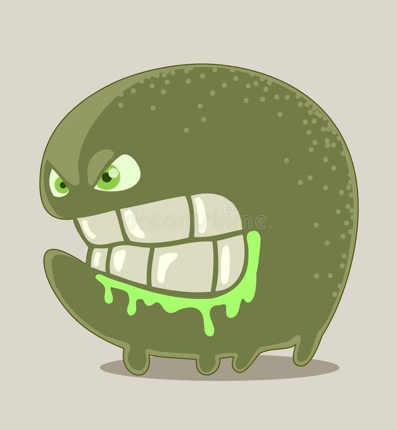 Kleines verärgertes Monster lizenzfreie abbildung