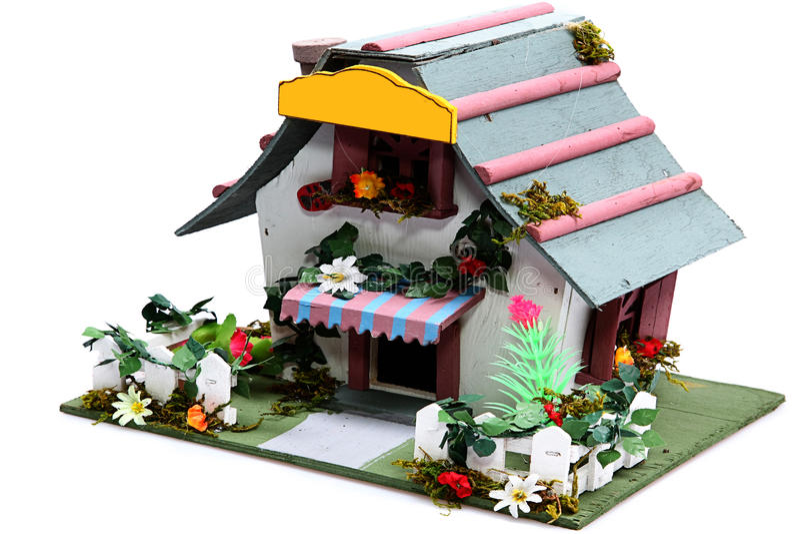 Download Kleines Vogel-Haus stockfoto. Bild von haupt, eingang - 26361268