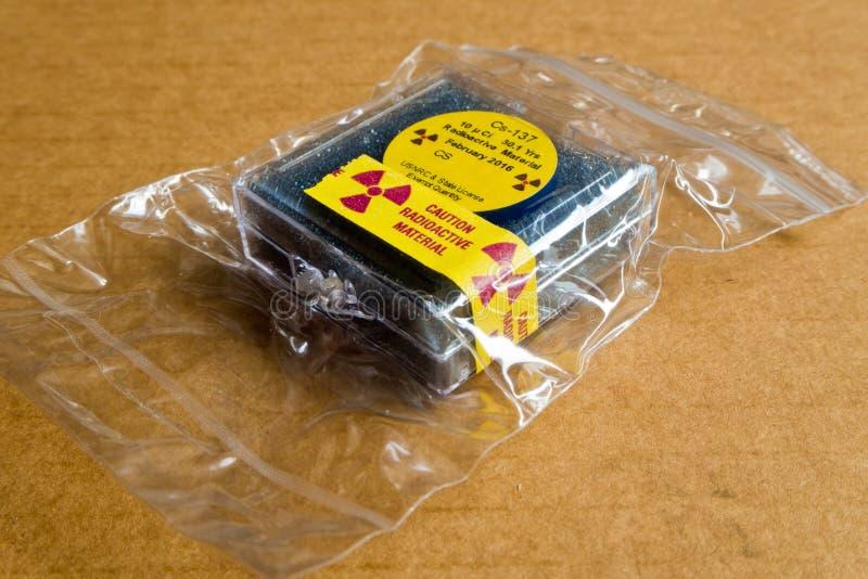 Kleines Zäsium radioaktiv stockfotografie