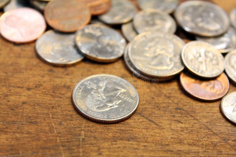 Kleingeld stockfotografie